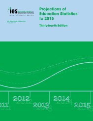 Projections of Education Statistics to 2015 - National Center for ...