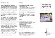 Community Organizing - Evangelische Kirche der Pfalz