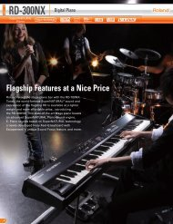Flagship Features at a Nice Price RD-300NX Digital Piano - Roland