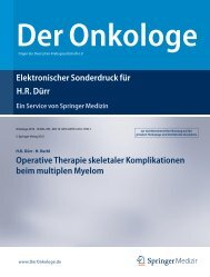 Operative Therapie skeletaler Komplikationen ... - Tumororthopädie