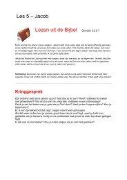 Les 5 – Jacob Lezen uit de Bijbel Genesis 31:1-7 - Bijbelverhalen