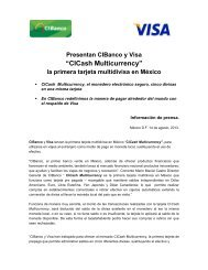 Presentan CIBanco y Visa la primera tarjeta multidivisa en ... - ComFin