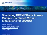 Simulating DRFM Effects Across Multiple Distributed Virtual ...