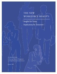 The New Workforce Reality: Insights for Today - Simmons College