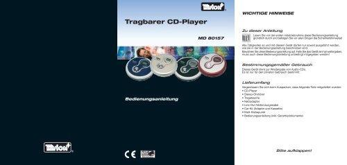 Tragbarer Cd-Player - Medion