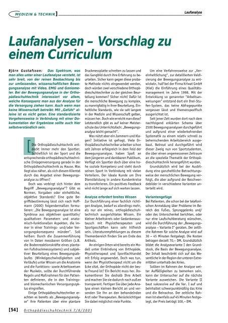 Laufanalysen – Vorschlag zu einem Curriculum - H-P-COSMOS ...