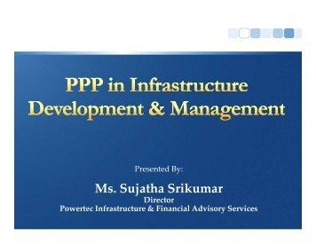 Ms. Sujatha Srikumar - National Institute of Urban Affairs