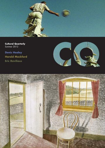 Summer 12 - Cultural Quarterly Online