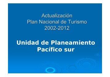 Act. Plan deTurismo 2002-2012 - Territorios Centroamericanos