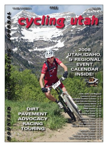 July 2008 Issue - Cycling Utah