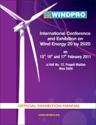 Windpro Exhibition Manual - Indian Wind Power Association