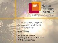 Towards Programming Models for Multi-Core Computing