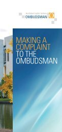 Download brochure - Australian Capital Territory Ombudsman - ACT ...