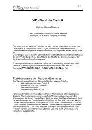 VIP - Stand der Technik - VIP-Bau