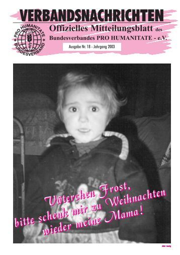 VERBANDSNACHRICHTEN - Pro Humanitate