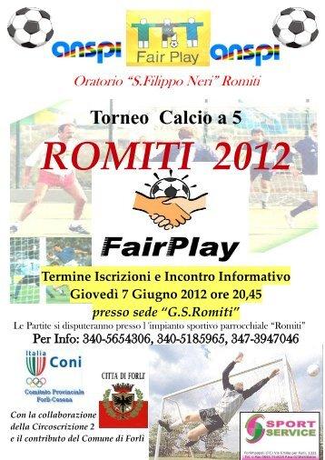 Torneo Calcio a 5 - Parrocchia Romiti