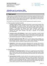 Direttive per la revisione LRD - SRO Treuhand Suisse