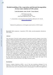 Detailed modeling of the evaporation and thermal decomposition of ...