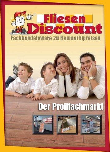 Fliesen Discount Profil Broschüre