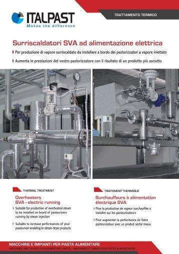 Surriscaldatori SVA ad alimentazione elettrica - Italpast