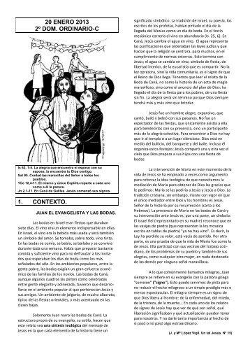 20 enero 2013 2º dom. ordinario-c 1. contexto. - Escucha de la ...