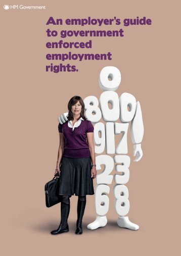 An employers guide to government enforced ... - Revenue Benefits