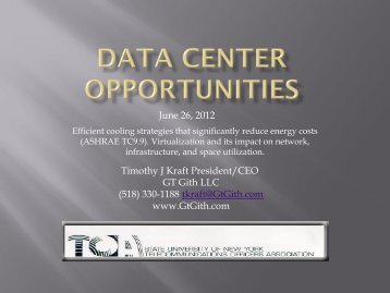Data Center opportunities - The SUNY Technology Conference