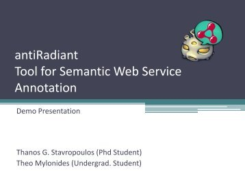antiRadiant: Tool for Semantic Annotations for Web Service ... - LPIS