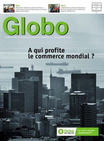 Globo 12 : A qui profite le commerce mondial