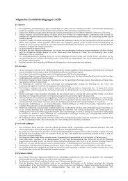 1 Allgemeine Geschäftsbedingungen (AGB)