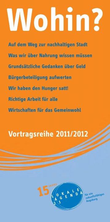 Wohin? - Nachhaltigkeit - Stadt Augsburg