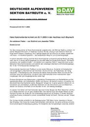 PN 03-11-2009 Kammerlander Vortrag Bayreuth 1 - Alpenverein ...