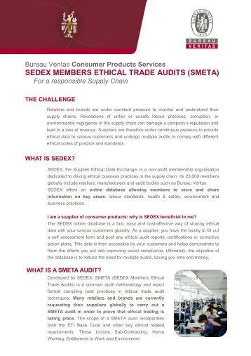 SEDEX Audit - Bureau Veritas
