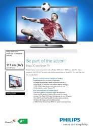 46PFL5527K/12 Philips Smart LED TV with Pixel Plus HD