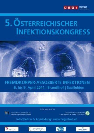 5. österreichischer infektionskongress - Österreichische Gesellschaft ...