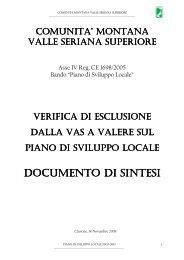 VAS C.M. Valle Seriana Superiore - Comunità Montana Valle Seriana