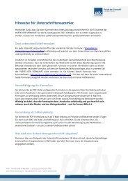 Hinweise für Unterschriftensammler - Partei der Vernunft Baden ...