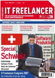 IT Freelancer Magazin Nr. 1/2007