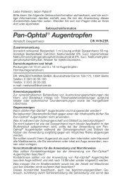 Pan-Ophtal® Augentropfen - drwinzer.de