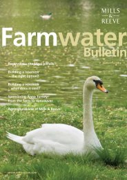 Farm Water Bulletin - Autumn 2008 - Mills & Reeve