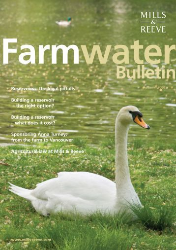 Farm Water Bulletin - Autumn 2008 - Mills & Reeve