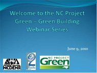 Green Cleaning - NC Project Green