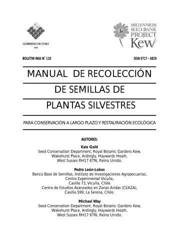 manual de recolección de semillas de plantas silvestres - INIA