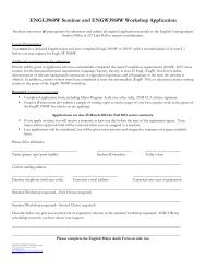 Senior Seminar / Workshop Request Form and Major Program Audit ...