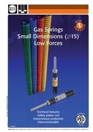 Gas Springs Small Dimensions (015) Low Forces