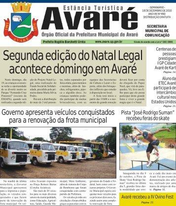 Segunda edição do Natal Legal acontece domingo em Avaré