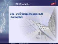 DEHN – Blitz- und Überspannungsschutz Photovoltaik