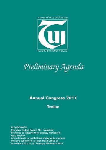 Preliminary Agenda 2011 - TUI
