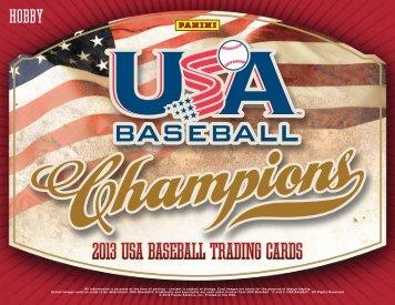 2013 Panini USA Champions Baseball Product Information Sheet