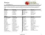 Plant List: - Conservation Garden Park
